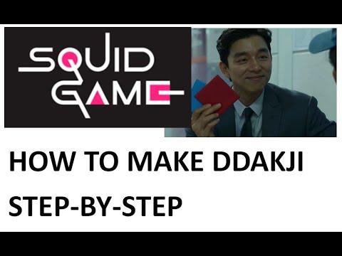 How to make Ddakji - Running Man