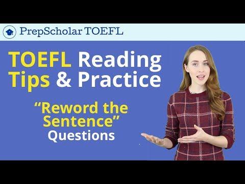 TOEFL Reading Tips & Practice |