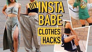 DIY MENS CLOTHES TO INSTAGRAM BADDIE CLOTHING HACKS!   DIY   Nava Rose