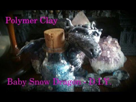 DIY-SnowDragon- Altered Bottle-Polymer Clay