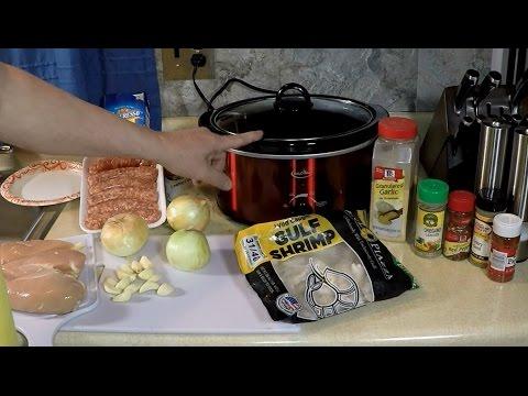 Crock Pot Chicken Gumbo , Sausage, Shrimp Seafood Mardi Gras Recipe