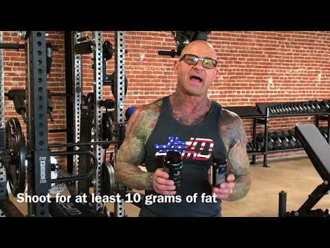 How much fat do you need to have with Vita JYM multivitamin.