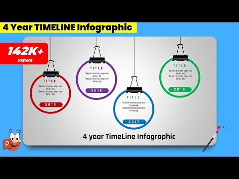 1.Create 4 Year CIRCULAR TIMELINE Infographic || PowerPoint Presentation || Free Template