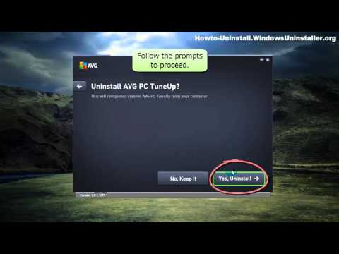 How to easily, quickly uninstall AVG PC TuneUp 2016
