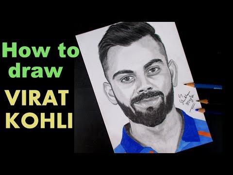 How To Draw Virat Kohli Artist Shubham Dogra Download Mp4