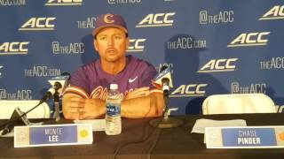 TigerNet.com - Monte Lee on loss to Virginia in ACC Tournament - 5.26.17