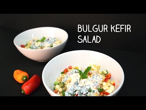 #Appetizing - Kefir Bulgur Salad with milk kefir from active kefir grains