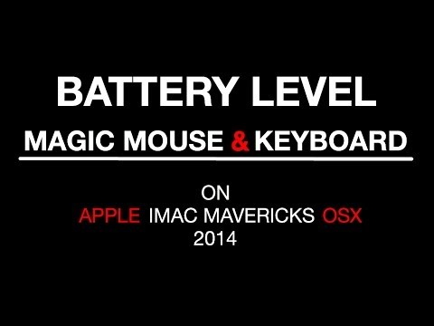 How to check magic mouse & keyboard battery level - Mac