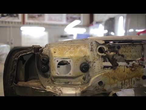 Repairing a rusty Mercedes-Benz R107 SL bulkhead - The