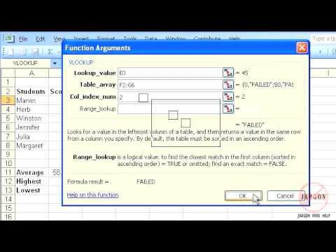 Excel 2003: VLOOKUP Function Tutorial (new)