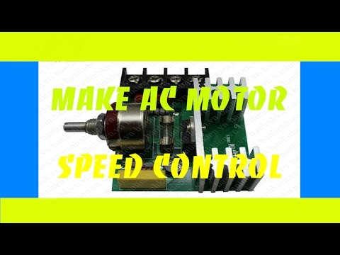 How to make AC motor speed control - DIY Products