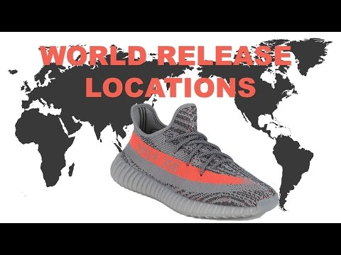 ALL YEEZY 350 LOCATIONS WORLD WIDE, AIR JORDAN 16 MIDNIGHT NAVY AND MORE!!