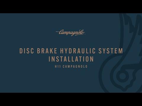 Installation of hydraulic disc brake system
