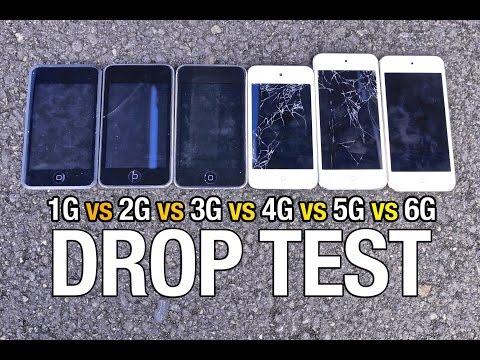 iPod Touch 6G vs 5G vs 4G vs 3G vs 2G vs 1G Drop Test!