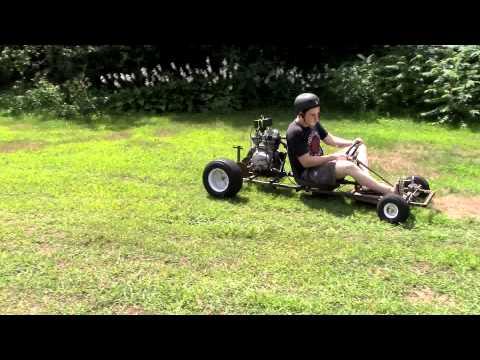 15 HP 5-Speed Go Kart Build Part 6- It's Running!!