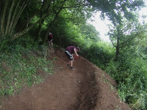 The Building Of An MTB Berm - Trail Building