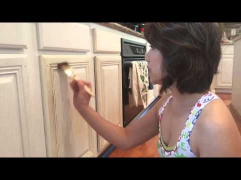 Amy Howard Kitchen Makeover -- How to Paint and Distress Kitchen Cabinets