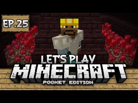 Survival Let's Play Ep. 25 - Finding Nether Wart! - Minecraft PE (Pocket Edition)