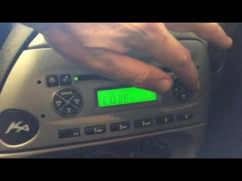Ford CD 6000 AUX Security Code Input (KA, 2008 build)