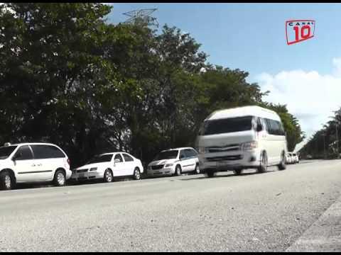 Taxistas de Cancún, Puerto Morelos y Tulum se manifestaron en la ZH