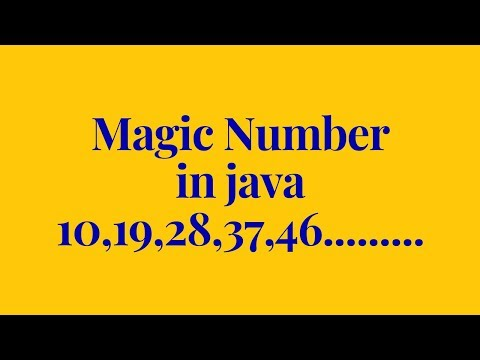 how to check a number is a magic number or not  in java