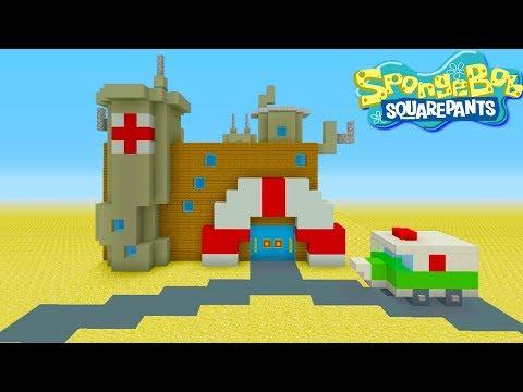 Minecraft Tutorial: How To Make The Hospital from Spongebob