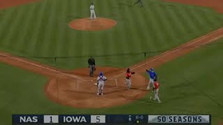 B.J. Boyd breaks up no-no with homer