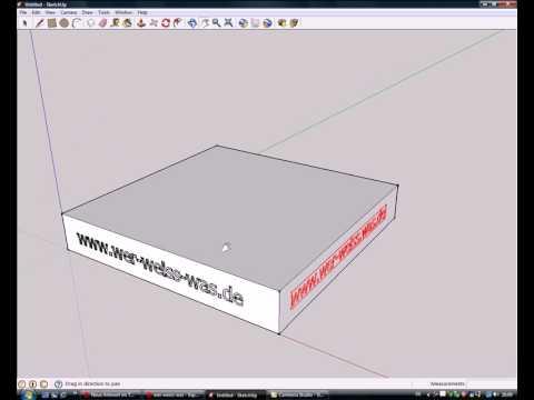 Google Sketchup - Quader - 3D Text
