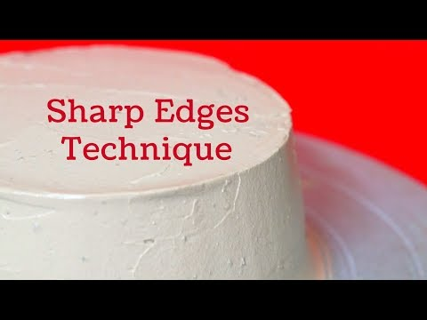 Sharp Edges Technique : Sharp Edges with whipped Cream