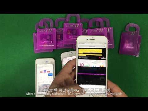 R SIM11+ Unlock  For iOS 10-7 LTE 4G