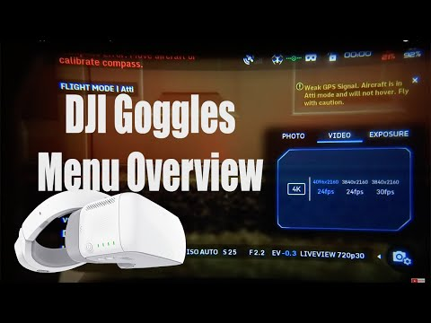 The DJI Goggles Menu Walk Though and Info Review