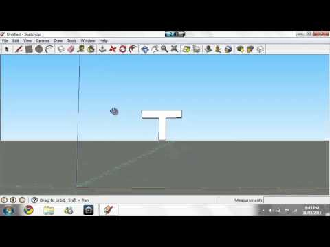How To Make A 3D Letter On Google SketchUp