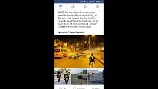Warning Karachi wallo Biker,Racers,Wheeler And Drifter