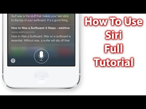 How To Use Siri On iOS 7 & iOS 8 - iPhone 5s/5c, iPad and iPod Touch Siri Tutorial