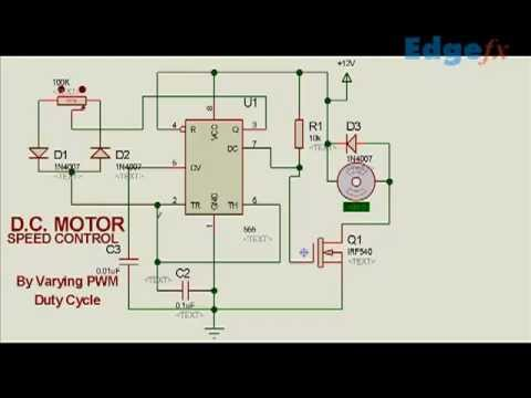 DC motor speed controller circuit using PWM | Electrical Project