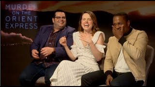MURDER ON THE ORIENT EXPRESS interviews - Daisy Ridley, Gad, Branagh, Pfeiffer, Odom Jr., Boynton