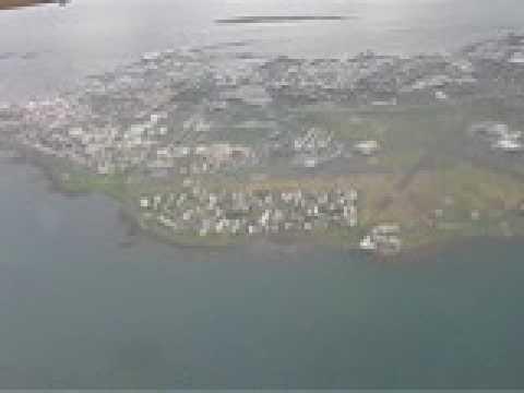 Approaching Reykjavik Domestic airport