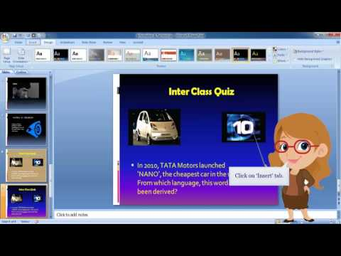 MS PowerPoint 2007-  Audio Effect to a Slide