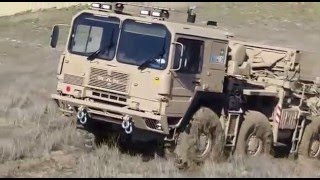 UNICAT Expedition Vehicles - MAN 8X8 X 8 steering wheels