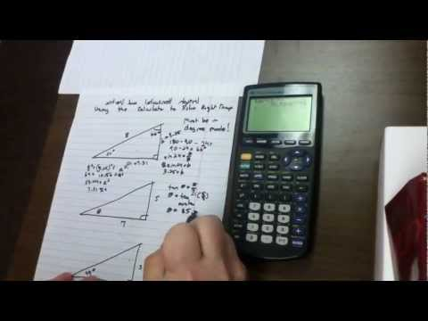 How to Solve Different Right Triangles Using the Graphical Calculator - 26