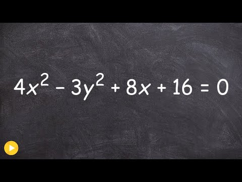 How to find the foci, center and vertices, and asymptotes of a hyperbola