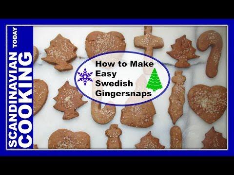 How to Make Easy Swedish Gingersnaps 🎄 Pepparkakor 🍪