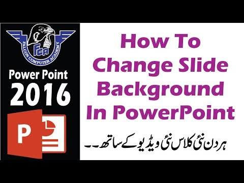 How To Change Slide Background In PowerPoint | how to add picture & gradients in slide background