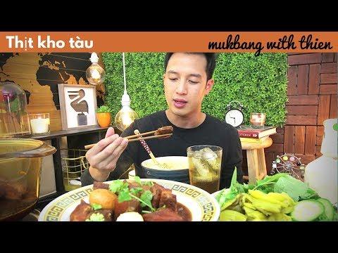 [mukbang/cookbang with THIEN]: Vietnamese Caramelized Pork 🐷 & Eggs🥚(Thịt kho tàu)