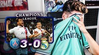 REACCIONES DE UN HINCHA PSG vs Real Madrid 3-0 *ME DAN GANAS DE LLORAR*