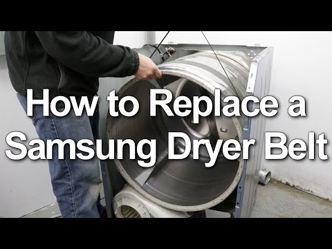 Samsung Dryer Belt Replacement - Not Spinning or Starting