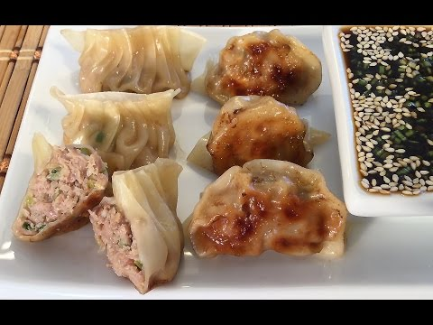 How To Make Gyoza Dumplings Japanese Food Recipes Pork And Cabbage Potstickers