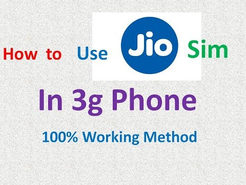 How to Use Reliance Jio 4g Sim in 3g Mobile Phone