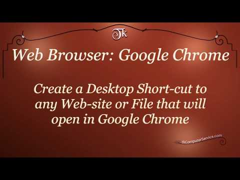 Create a Desktop Shortcut that opens Links and/or Files in Google Chrome