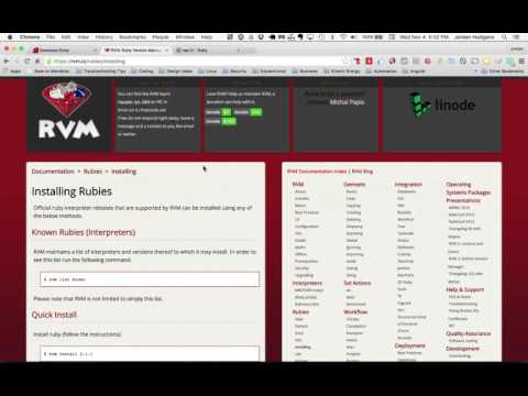 How to install different Ruby versions with RVM